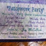 A Patchwork Party Quilt Label