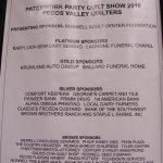 a Quilt Show Sponsors